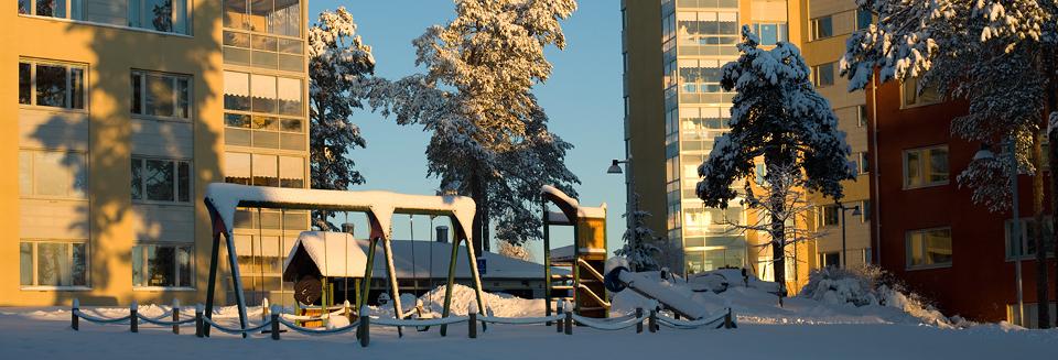 Stora snömängder och utfärdad klass 2-varning